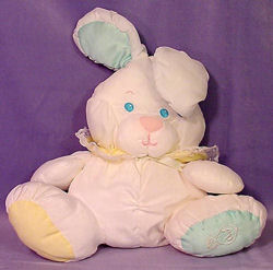, FOUND – Fisher Price PUFFALUMP White BABY RABBIT