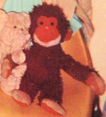 1981 Reddish Brown Monkey with White Beard Velcro Hands