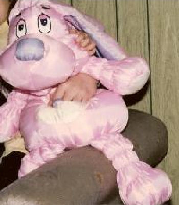 1986 Commonwealth XL Jumbo Love Pink & Purple Dog