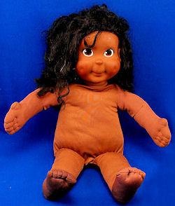 Playskool Hasbro 1986 My Buddy Black Kid Sister Doll