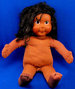 Playskool Hasbro 1986 My Buddy Black Kid Sister Doll