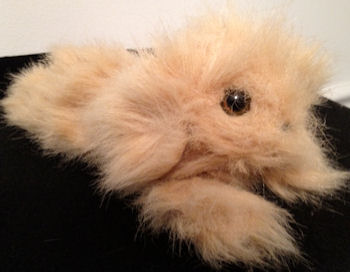 Applause 1989 Fuzzles Tan Furry Dog