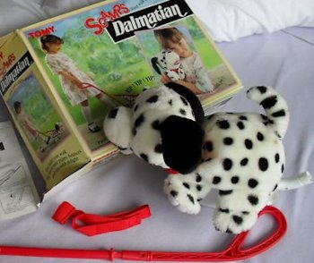 """TOMY Scamps dog, Searching – """"Walking"""" DALMATIAN 1989 Tomy Scamps Dog"""