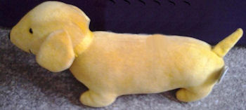 1993 Manhattan Yellow Velour Dachsund Dog