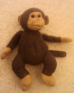 1998 RUSS? Small Chocolate and Light Brown Monkey
