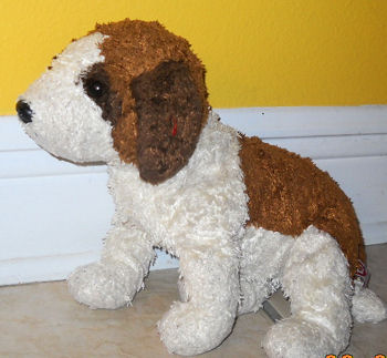2000 TY Beanie Buddy Brown & White Dog