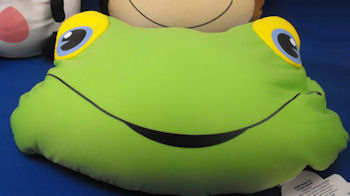 Innovage 2005 Cushion Buddies Green Microbead Frog Head