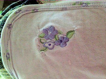 2006 Carter's? Lavender Baby Blanket with Purple Flowers