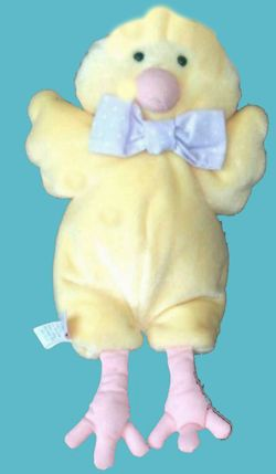 2007 Hallmark Heartline Yellow Chick Realistic Feet