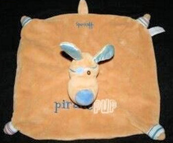 2007 Harrods Brown & Blue Pirate Pup Security Blanket