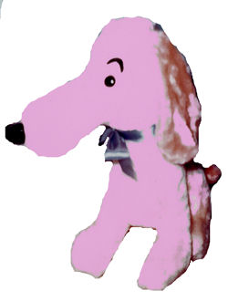 60's Pink Seated Dog