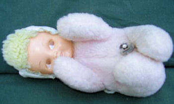 , Is This YOUR 60's PINK BUNTING MUSICAL DOLL?????