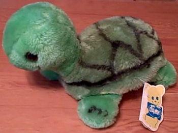 70's DAKIN 9 inch Green Turtle