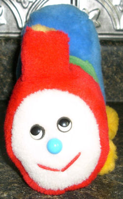 80's Eden Plush Choo Choo Train that Winds Up to Play I've Been Working On the Railroad