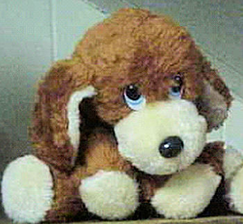 80's Knickerbocker Floppy Brown Beige Beanie Dog