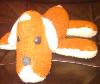 70's Brown Real? Fur Floppy Dog