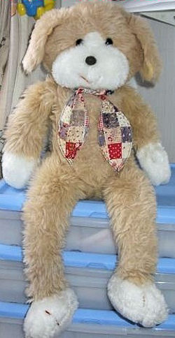 1980 Amtoy Plush Dog - Longfellows