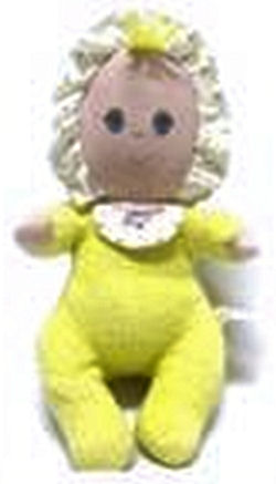 Amtoy Yellow Doll With Ruffle Bonnet