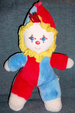 80's American Greetings AMTOY Half Red, Half Blue Clown