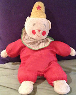 Vintage Eden Clown with a Red and White Suit