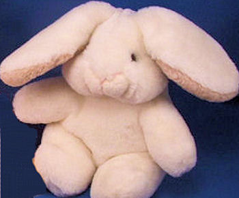 1982 GUND White Lop Eared Rabbit