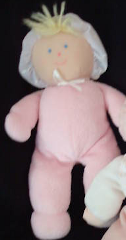 Blond 90s Eden Doll PINK and WHITE with Ball Hands, Feet