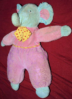Blue Pink 90s Eden Elephant Red Dotted Yellow Bow