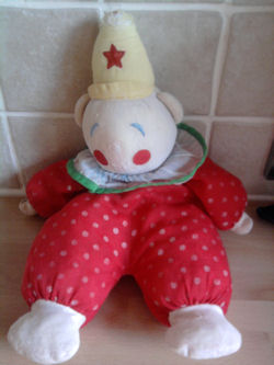 90's Eden White Bear Wearing Red with Yellow Polka Dots