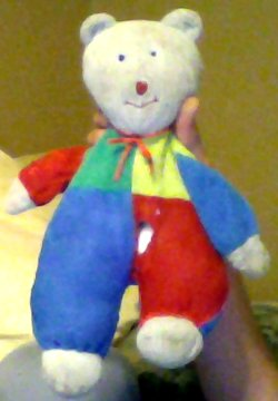 90s White Bear with Multi-color Body