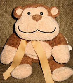 Animal Adventure Brown Monkey with Rattle