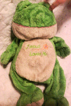 Baby Connection Jesus Loves Me Green Frog