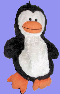 Aeropostale Penguin Originally with a Red or Blue Scarf
