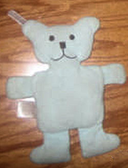Amy Coe Small Flat Pastel Blue Bear