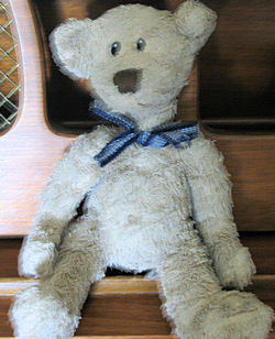 Animal Adventure or Baby Adventure 8 inch Brown Bear with Blue Gingham Bow