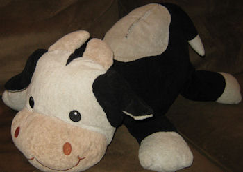 Animal Adventure Plunkadoodle XL Black & White Lying Down Cow