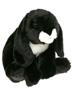 Animal Alley Black & White Realistic Lop Ear Rabbit