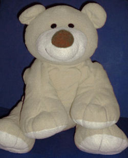 Large 2006 Animal Alley Cream & Tan Bear with a Big Smile