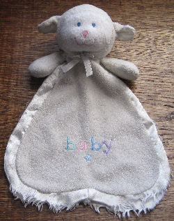 Animal Alley White Baby Lamb Blankie