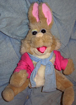 80's Applause Tale of the Bunny Picnic set of Four Rabbit Puppets
