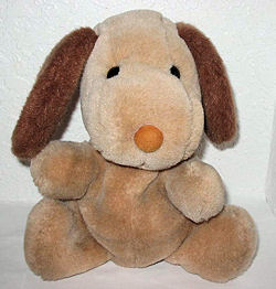 80's? Brown Dog Hand Puppet with a Big Nose