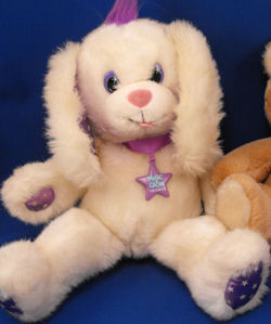 90′s Applause WHITE & PURPLE GLOW in DARK RABBIT? DOG?
