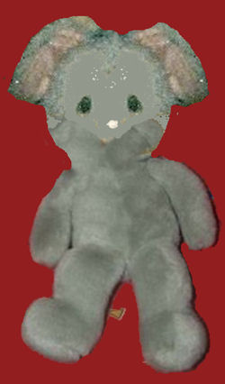 70's? 80's? Applause? Precious Moments? Gray Mouse with a Frown and Tear Shaped Eyes