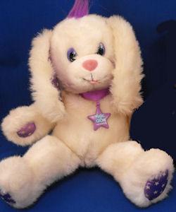Applause White Dog Star Print Purple Magic Glow Friends