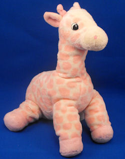 Aurora Baby Large BLUE & White Giraffe Knotted Tail