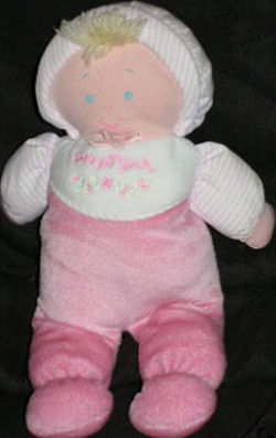Baby B'gosh Blond Doll wearing a Pink Sleeper and Matching Bonnet