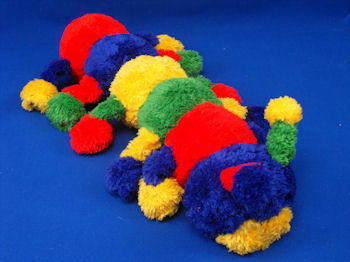 Baby Boyds 2002 Primary Color Chenille Caterpillar Squeak