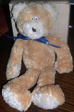 , FOUND – 2005 Boyd's Baby Small LIGHT BROWN & WHITE Floppy Lanky BEAR