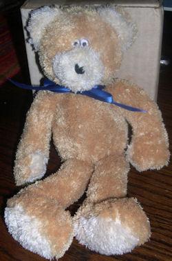 2005 Boyd's Baby Small Light Brown & White Lanky Floppy Bear