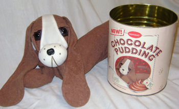 , DISCONTINUED – CHOCOLATE PUDDING DARK BROWN LONG DOG Originally Sold in a CAN