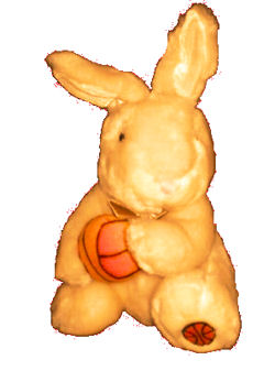 , FOUND – DanDee Light BROWN RABBIT Holding BASKETBALL